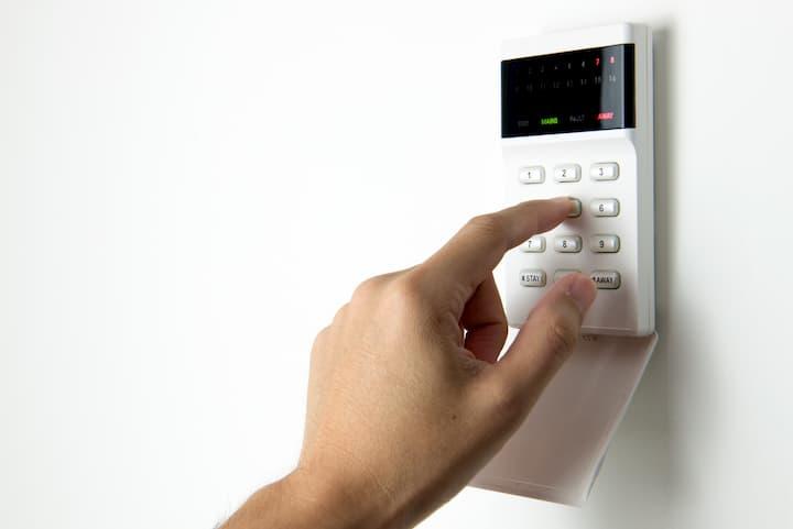alarme de casa, item de segurança privada.